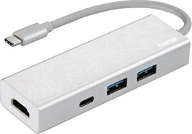 Hama USB-C Multiport adapter USB 3.0 type-C/HDMI 1.4 adapters + 3-port Hub (00135756)