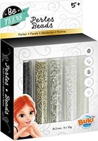 Buki Bead Tubes silver/white (PE006)