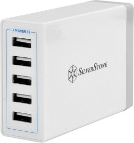 SilverStone UC01 USB-charging station 5-way 8A white (SST-UC01W)