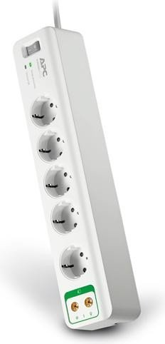 APC SurgeArrest Essential 5-way overvoltage protection, coaxial (PM5V-GR)