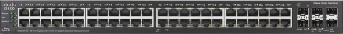 Cisco SG500X Rackmount Gigabit Managed Stack Switch, 48x RJ-45, 2x SFP+, 2x SFP+/Stacking (SG500X-48-K9-G5)
