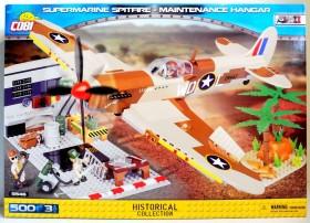 Cobi Historical Collection WW2 Supermarine Spitfire Mk.IX Maintenance Hangar (5546)