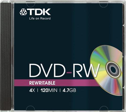 TDK DVD-RW 4.7GB 4x, 1-pack Jewelcase