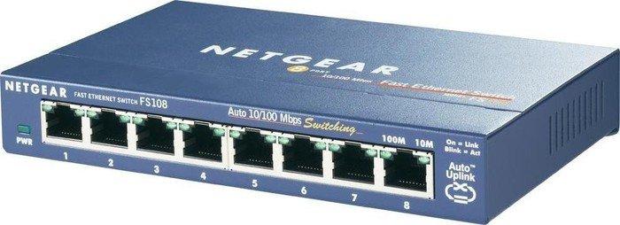 Netgear ProSAFE FS100 Desktop Switch, 8x RJ-45 (FS108-100)