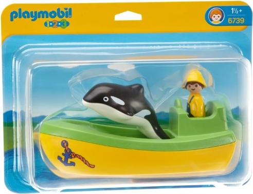 playmobil - 1.2.3 - Fischerboot mit Wal (6739) -- via Amazon Partnerprogramm