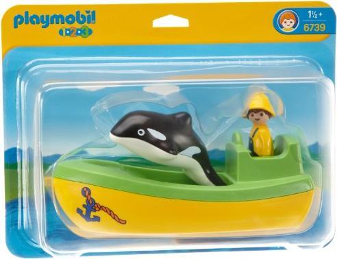 playmobil 1.2.3 - Fischerboot mit Wal (6739) -- via Amazon Partnerprogramm