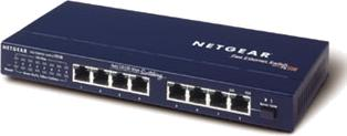 Netgear ProSAFE FS108 Kit (1 x FS108 Switch, 1 x FA311 10/100 PCI-Karte)