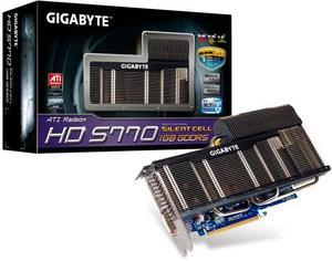 Gigabyte Radeon HD 5770 Silent Cell, 1GB GDDR5, DVI, HDMI, DisplayPort (GV-R577SL-1GD)