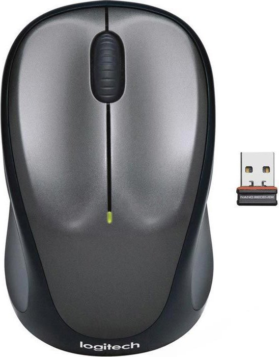 Logitech M235 wireless Mouse grey, USB (910-002203)