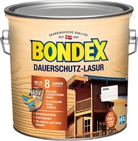 Bondex Dauerschutz-Lasur Holzschutzmittel weiß, 2.5l (329930)