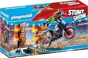 playmobil Stuntshow - Motorrad mit Feuerwand (70553)