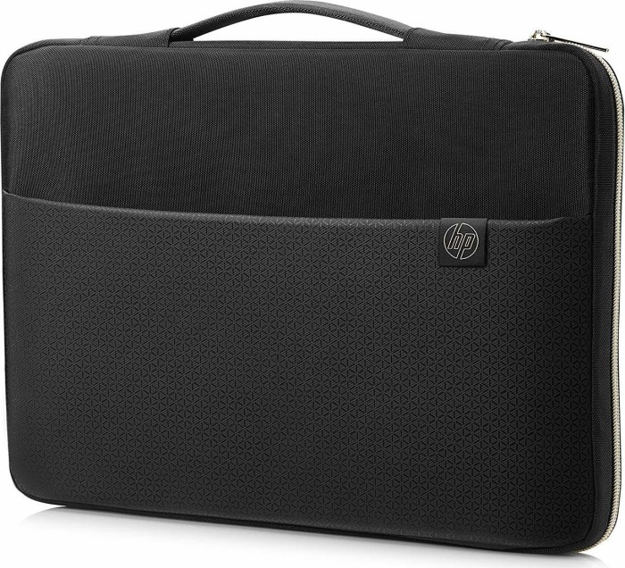 """HP 15.6"""" Carry sleeve notebook cover, black/gold (3XD35AA#ABB)"""