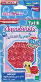 Aquabeads Rote Glitzerperlen Nachfüll Set 600 Ersatzperlen Basteln Spielzeug