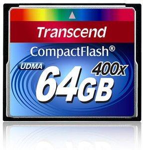 Transcend CompactFlash Card [CF] 400x 64GB (TS64GCF400)