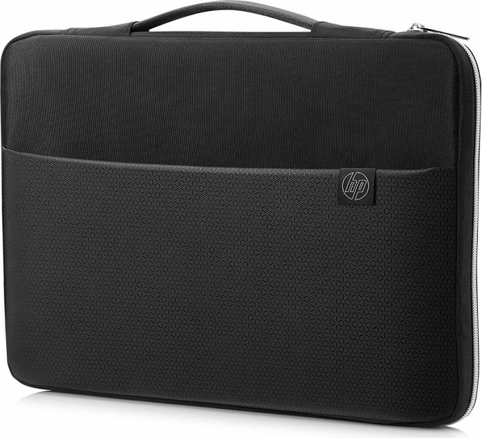 """HP 17.3"""" Carry sleeve notebook cover, black/silver (3XD38AA#ABB)"""