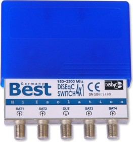 Best DiSEqC Schalter 4/1 mit Wetterschutzgehäuse