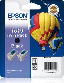 Epson T019 tusz czarny, sztuk 2 (C13T019402)