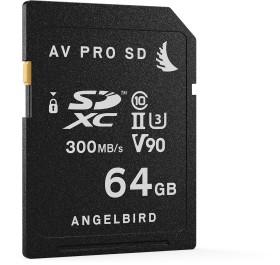 Angelbird AV PRO SD V90 R300/W260 SDXC 64GB, UHS-II U3, Class 10 (AVP064SD)