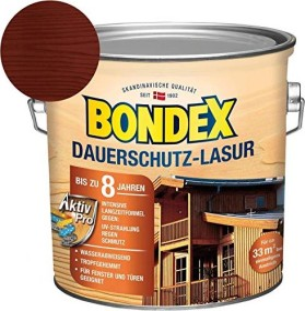 Bondex Dauerschutz-Lasur Holzschutzmittel mahagoni, 2.5l (329911)