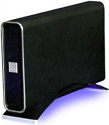 "RaidSonic Icy Box IB-360UE-B-BL schwarz, 3.5"", USB-B 2.0/FireWire (20381)"