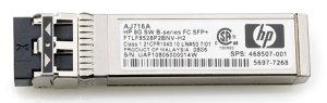 HP B-Series 8G SAN-Transceiver, LC-Duplex MM 150m, SFP+ (AJ716B)