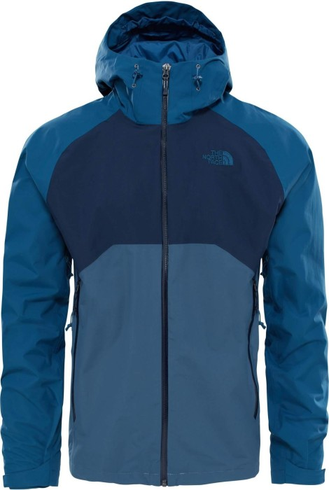 The North Face Stratos Jacke conquer blue/urban navy/monterey blue (Herren)