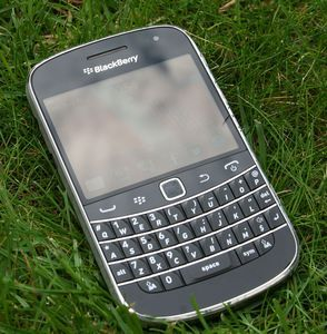 Blackberry Bold Touch 9900 with branding