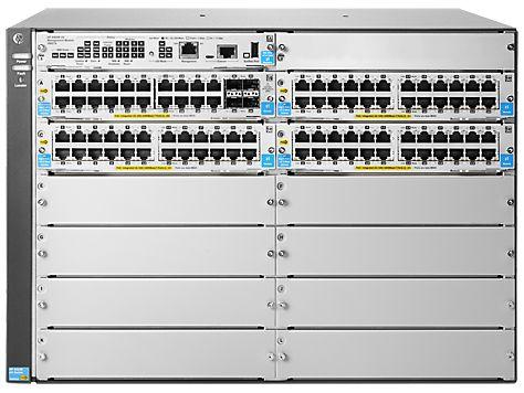 HP Aruba 5400R zl2 Rackmount Gigabit Managed switch, 92x RJ-45, 4x SFP, 8x module slot, PoE+ (J9826A/5412R-92G-PoE+/4SFP)