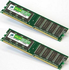 Corsair ValueSelect DIMM kit 4GB, DDR2-800, CL5 (VS4GBKIT800D2)