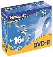 Memorex DVD-R 4.7GB 16x, 5-pack (854111-05)