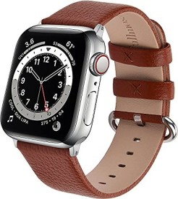 Fullmosa Lederarmband für Apple Watch 38mm/40mm braun