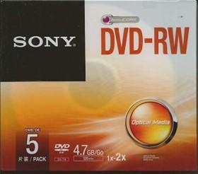 Sony DVD-RW 4.7GB 2x, 5er Jewelcase (5DMW47SS)