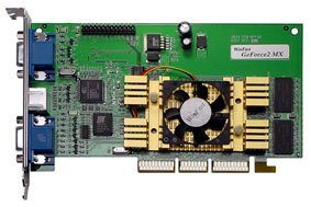 Leadtek WinFast GeForce2 MX DH Pro, 32MB (5ns), Dualhead, TV-out, AGP, Retail