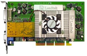 Leadtek WinFast GeForce2 Ultra, 64MB DDR [4ns], DVI, TV-out, AGP, retail