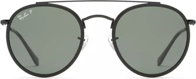 cfb3625114d Ray-Ban Round Double Bridge black green classic (RB3647N-002 58 ...