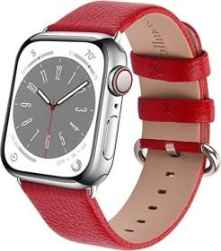 Fullmosa Lederarmband für Apple Watch 38mm/40mm rot