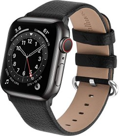 Fullmosa Lederarmband für Apple Watch 38mm/40mm schwarz