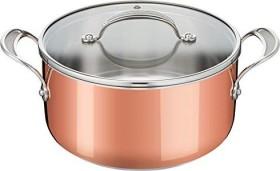 Tefal E49046 Triply Copper by Jamie Oliver Kochtopf mit Glasdeckel 24cm