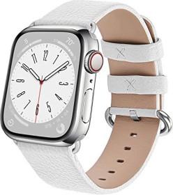 Fullmosa Lederarmband für Apple Watch 38mm/40mm weiß