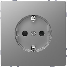 Merten System Design SCHUKO-Steckdose, edelstahl (MEG2400-6036)