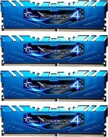 G.Skill RipJaws 4 blue DIMM kit 32GB, DDR4-3000, CL15-16-16-35 (F4-3000C15Q-32GRBB)