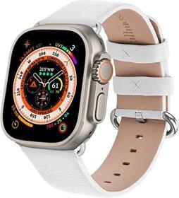Fullmosa Lederarmband für Apple Watch 42mm/44mm weiß