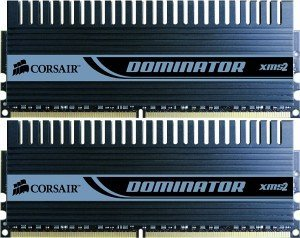 Corsair XMS2 Dominator DIMM Kit   4GB, DDR2-1066, CL5-5-5-15 (TWIN2X4096-8500C5DF)