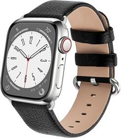 Fullmosa Lederarmband für Apple Watch 42mm/44mm schwarz