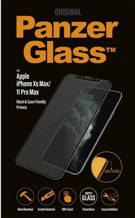 PanzerGlass Edge-to-Edge Case Friendly & Privacy für Apple iPhone 11 Pro Max schwarz (P2666) -- via Amazon Partnerprogramm