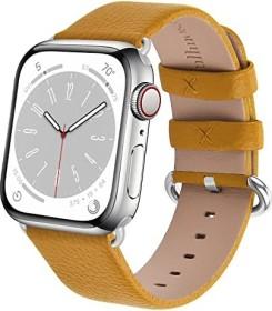 Fullmosa Lederarmband für Apple Watch 42mm/44mm gelb