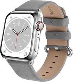 Fullmosa Lederarmband für Apple Watch 42mm/44mm grau