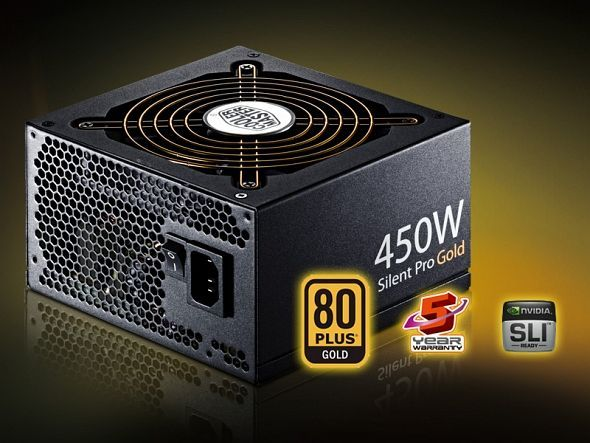 Cooler Master Silent Pro Gold  450W ATX 2.3 (RS450-80GA-J3)