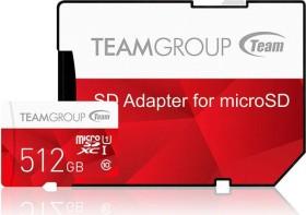 TeamGroup Color Card I red R80/W20 microSDXC 512GB Kit, UHS-I, Class 10 (TCUSDX512GUHS54)