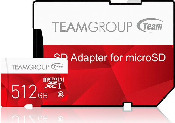 TeamGroup Color Card I red R80/W20 microSDXC 512GB Kit, UHS-I, Class 10 (TCUSDX512GUHS54)